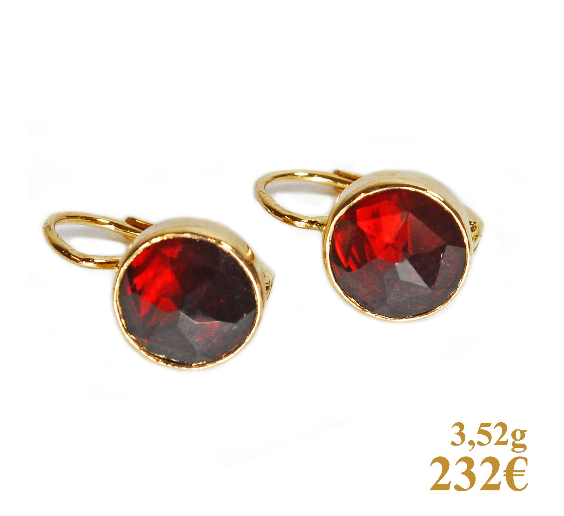 BouclesOreiGrenat-232e-3,52gr-3369